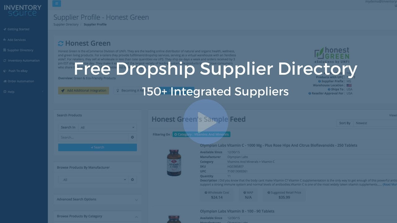 Free Dropship Supplier Directory