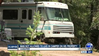 Man not allowed to live on camper parked on his property