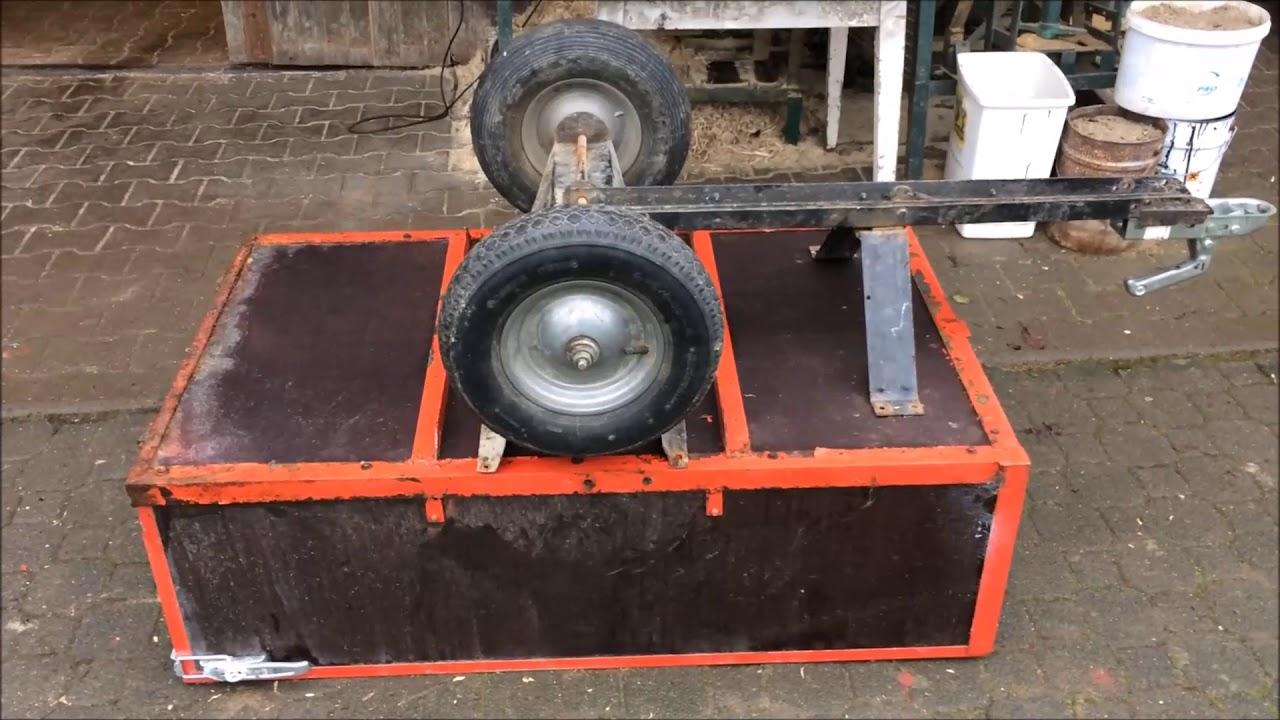 Berühmt Eigenbau Anhänger für Rasentraktor - Umbau auf altes Fahrgestell &ZU_55