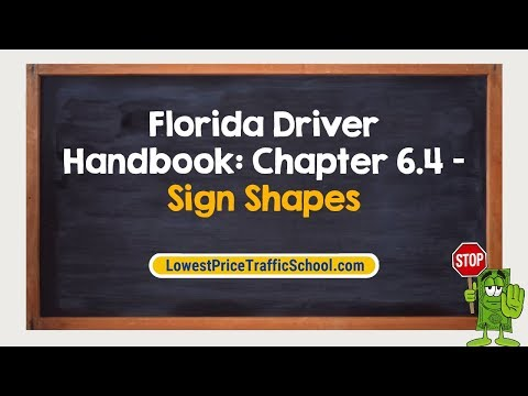 Florida Driver Handbook | Traffic Signs