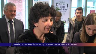Yvelines | Après la colère étudiante, la Ministre en visite à l'UVSQ