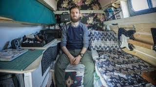 Nomad Builds Highly Functional Stealth Camper Conversion from a Ford E350 Work Van.