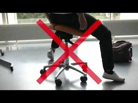 how to sit on a saddle chair