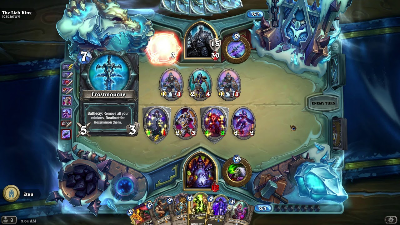beating the lich king with warlock decklist in description