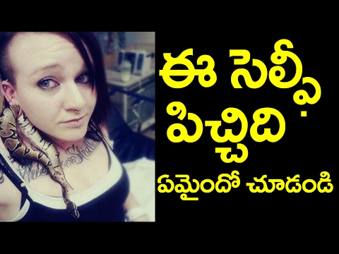Selfie With Snake | Snake Stuck In Earlobe While Taking Selfie | Selfie Madness | Taja30