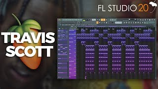 How To Make A Travis Scott Beat On FL Studio 20 | How To Create A Dark Trap Beat