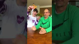 SCISSOR PRANK ON DAD GOES WRONG 🤬 #Shorts