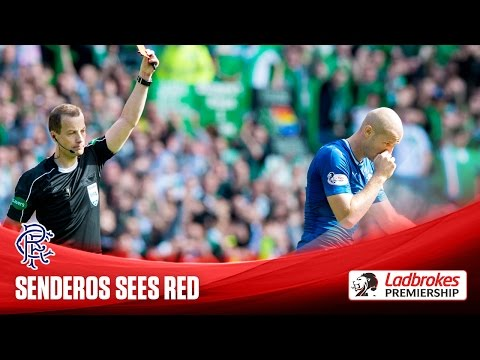 Philippe Senderos sent off on Rangers debut