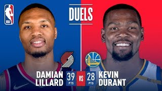 Damian Lillard and Kevin Durant Duel in the Bay Area   December 11, 2017