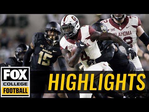 Oklahoma vs Baylor | HIGHLIGHTS | FOX COLLEGE FOOTBALL