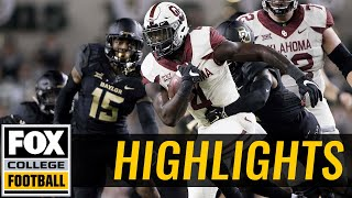 Oklahoma vs Baylor | HIGHLIGHTS | FOX COLLEGE FOOTBALL