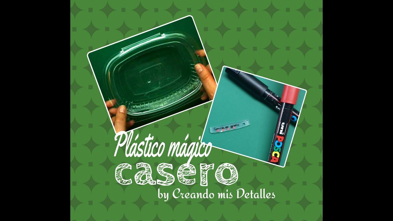 Diy pl stico m gico casero reciclado tutorial youtube - Plastico inyectado casero ...