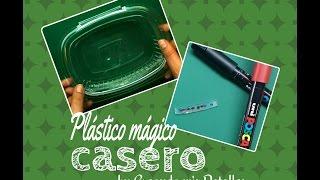 DIY Plástico mágico casero reciclado (tutorial)