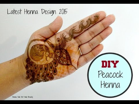 Mehndi Peacock Tattoos : Peacock inspired latest henna mehndi design diy