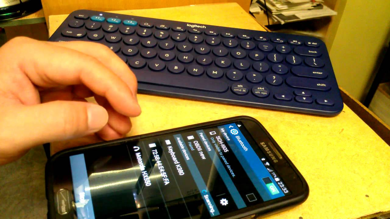 logitech K380 Bluetooth Keyboard - Part 2 Pairing with Phone
