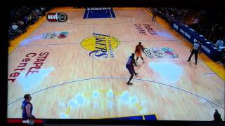 "Kobe bryant long ""and 1"" 3 pointer over balkman"