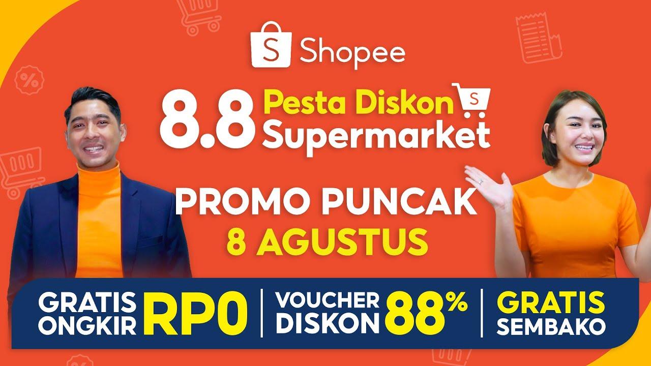 Belanja Bareng Al & Andin di Promo Puncak 8 Agustus | Shopee 8.8 Pesta Diskon Supermarket!