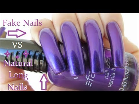 Long Natural Nails Vs Fake Nails