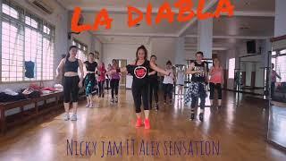 La Diabla - Nicky Jam Ft Alex Sensation - Zumba Fitness