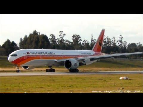 B77W|A319|B738|F100|CRJ200 PlaneSpotting Porto OPO-LPPR 27-02-2013.wmv