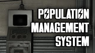 The Vault-Tec Population Management System - How to Use It - Fallout 4 Vault-Tec Workshop