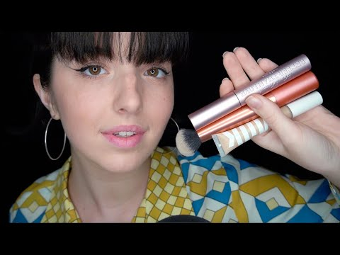 ASMR My Everyday Makeup Products (tapping/whispering)