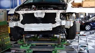 フレーム修正機(グローバルジグ)を使用して事故車のフレーム修正 thumbnail