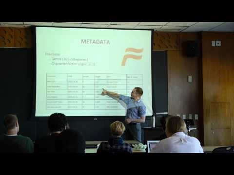 ML Lunch (Oct 21, 2013): Machine Learning for the Computational Humanities