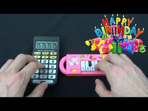 HAPPY BIRTHDAY SONG (1 Dollar Piano VS Cat Piano VS Calculator VS Chicken and Monkey)