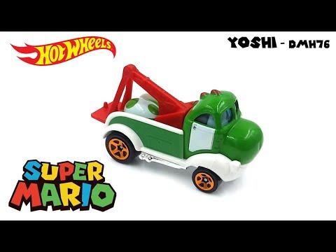 Hot Wheels 2016 - Super Mario - Yoshi DMH76 - Video Still Life Toy Review