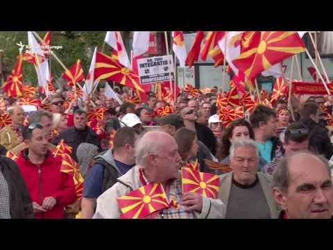 Macedonia Protesters Demand EU 'Respect'