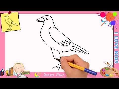 Comment dessiner un oiseau FACILEMENT etape par etape  pour ENFANTS 1