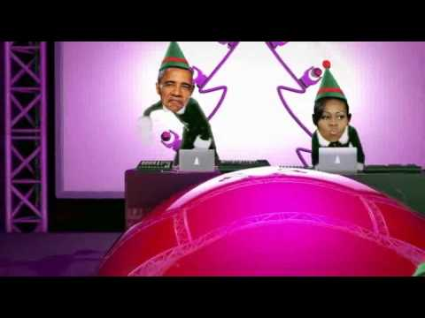 Party at the white house. Donald Trump, Hillary Clinton and Barack Obama. Funny stupid Elf yourself
