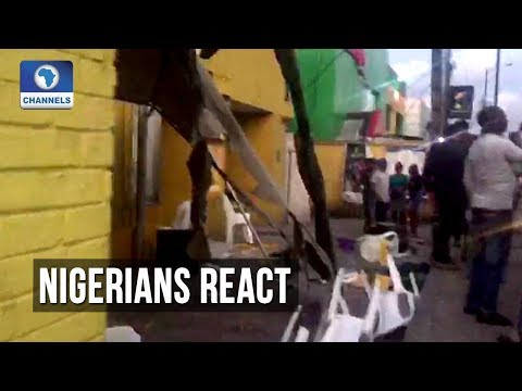 Youths Destroy MTN Office In Lagos