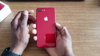 Product RED iPhone 8 Plus Unboxing