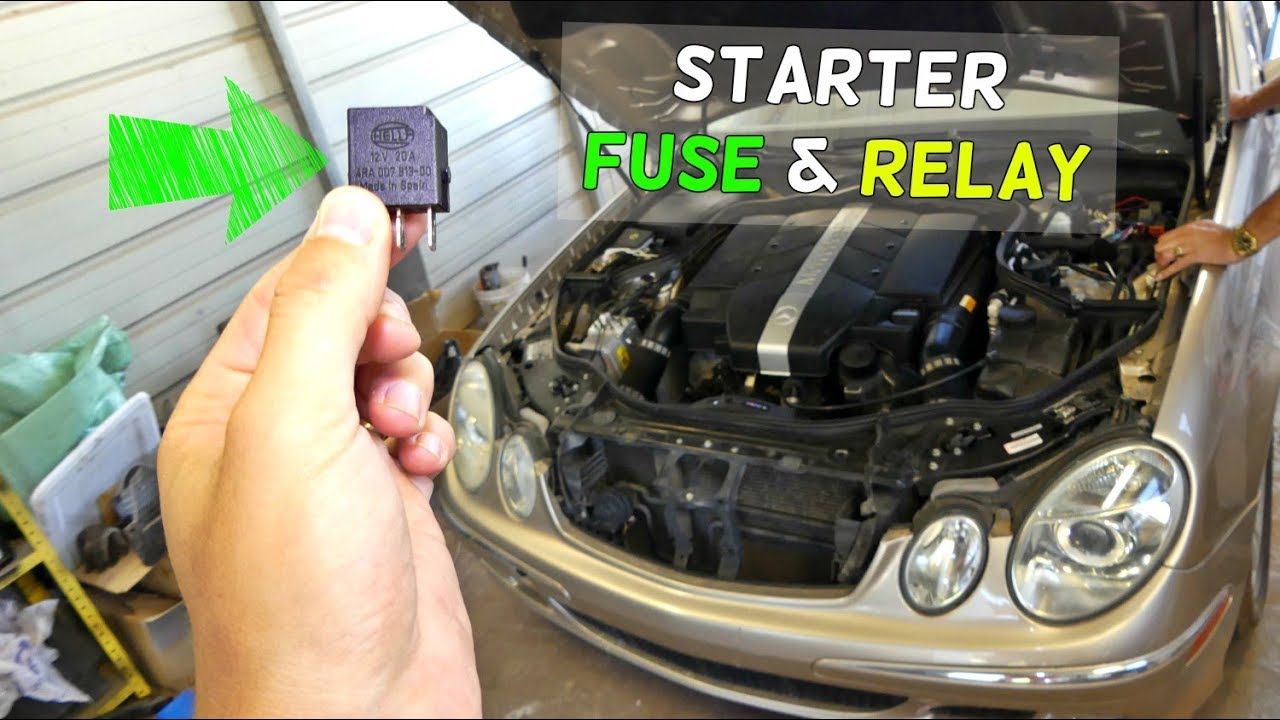 small resolution of mercedes w211 starter fuse relay location