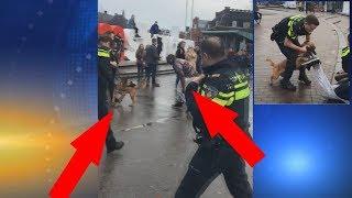 ► Hund attackiert mann! Polizeieinsatz + Polizei benutzt Pfefferspray [HD]