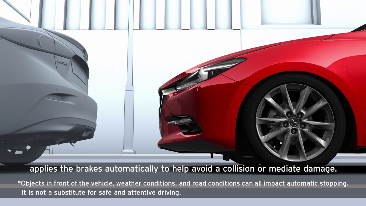 Mazda 3 Owners Manual: Smart City Brake Support(SCBS)