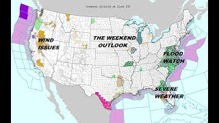 Weekend Rain in the East. Some Snow In The Mix Northeast Sunday, Flood Watches Southeast thumbnail