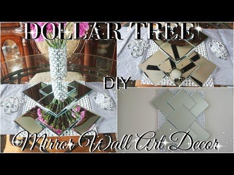 DIY DOLLAR TREE BLING MIRROR WALL ART HOME DECOR PETALISBLESS 🌹