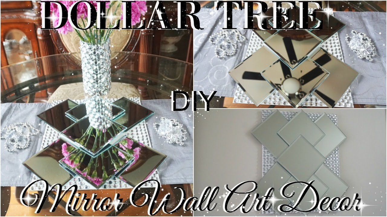 Diy Dollar Tree Bling Mirror Wall Art Home Decor