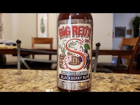 "Big Red's Hot Sauce ""Blackberry Rum"" Smother Sauce Review"