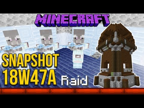 Minecraft 1.14 Snapshot 18w47a Pillager Outpost & Pillager Raids!