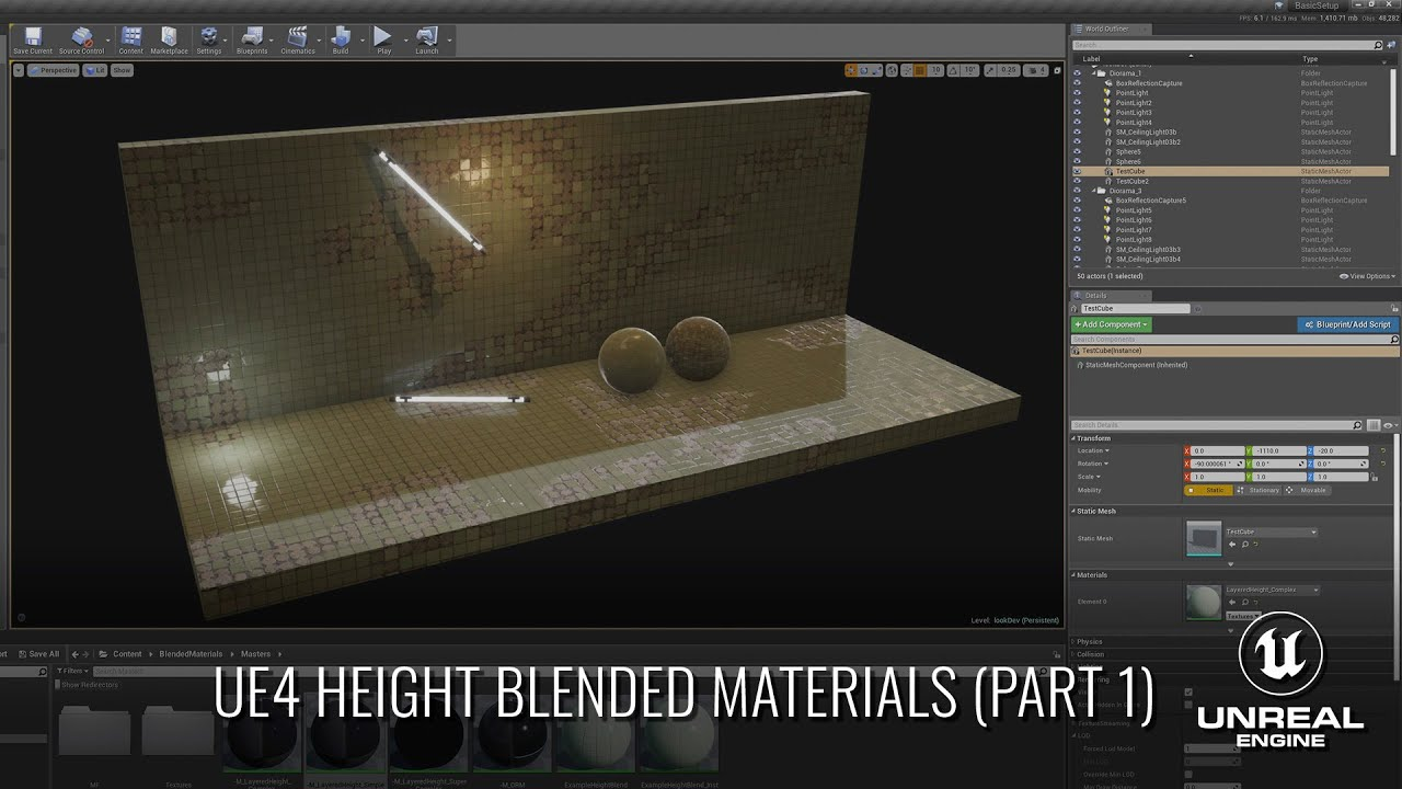 UE4 Height Blended Materials - Part 1