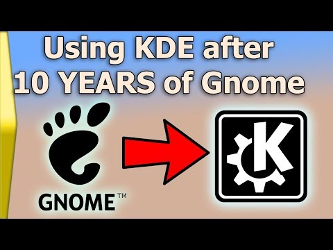 Ramblings on KDE after 10 YEARS of Gnome