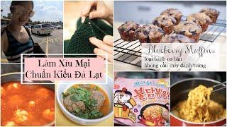 Cuối Tuần Làm Xíu Mại Kiểu Đà Lạt ♥ Blueberry Muffin Siêu Đơn Giản ♥ Đi Chợ Hàn Quốc  | mattalehang
