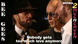 Bee Gees Too Much Heaven lyrics