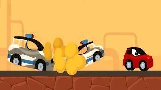 Мультики про машинки Все Серии Полицейская Погоня Маленького Героя за Бандитами