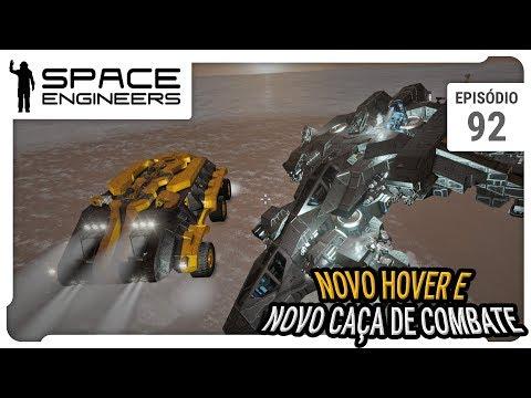 Space Engineers - Coop - Novo Land Hover e caça de combate - ep 92