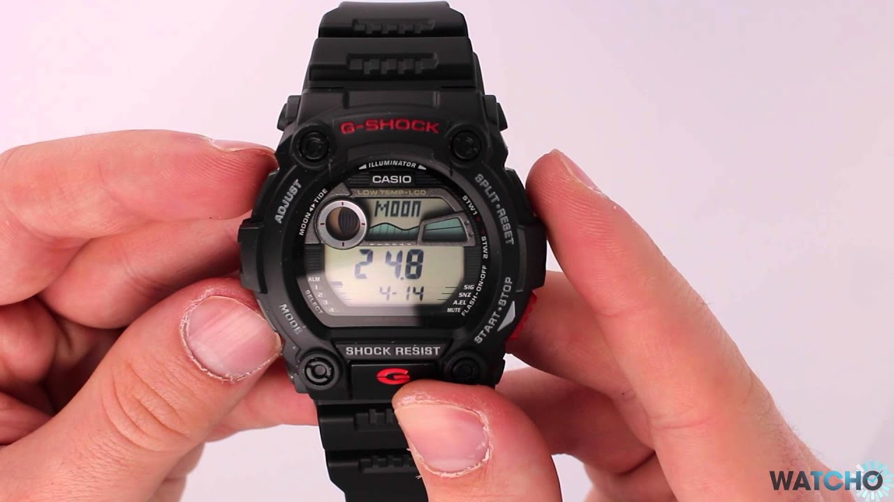 how to close casio watch lid